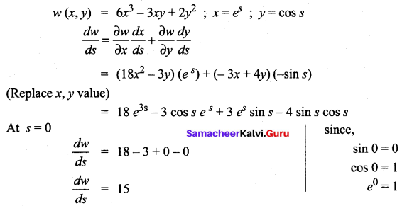 Samacheer Kalvi 12th Maths Solutions Chapter 8 Differentials and Partial Derivatives Ex 8.6 9