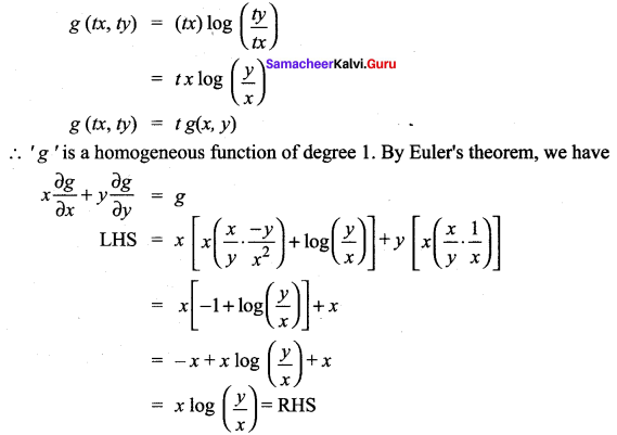 Samacheer Kalvi 12th Maths Solutions Chapter 8 Differentials and Partial Derivatives Ex 8.7 18