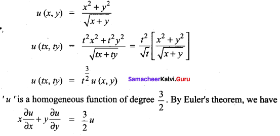Samacheer Kalvi 12th Maths Solutions Chapter 8 Differentials and Partial Derivatives Ex 8.7 20