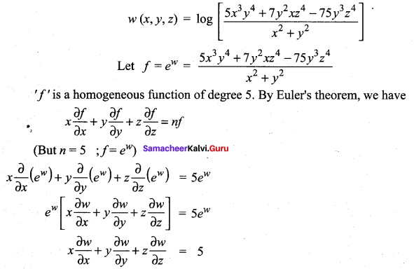 Samacheer Kalvi 12th Maths Solutions Chapter 8 Differentials and Partial Derivatives Ex 8.7 25