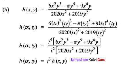 Samacheer Kalvi 12th Maths Solutions Chapter 8 Differentials and Partial Derivatives Ex 8.7 3