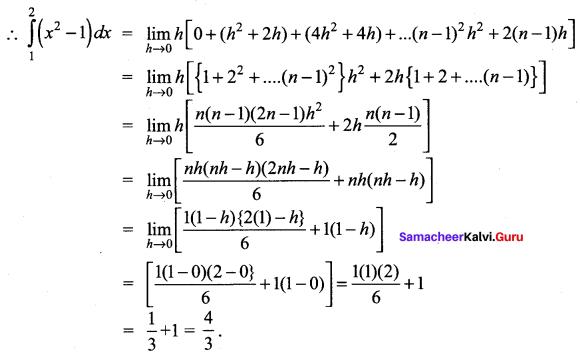 Samacheer Kalvi 12th Maths Solutions Chapter 9 Applications of Integration Ex 9.2 10