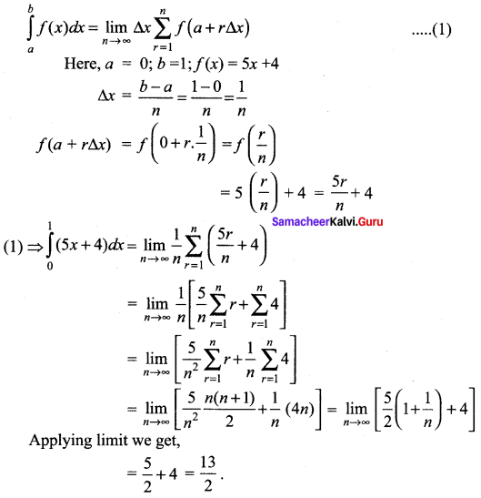 Samacheer Kalvi 12th Maths Solutions Chapter 9 Applications of Integration Ex 9.2 2
