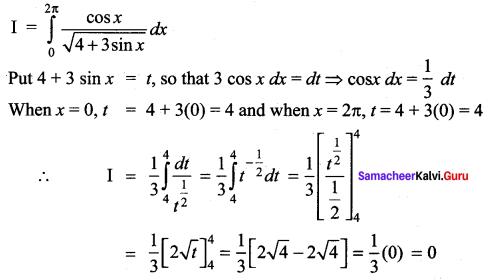 Samacheer Kalvi 12th Maths Solutions Chapter 9 Applications of Integration Ex 9.4 10