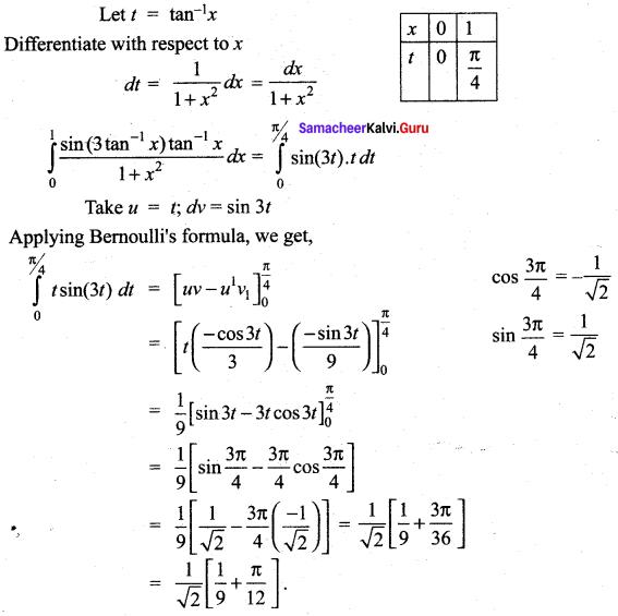 Samacheer Kalvi 12th Maths Solutions Chapter 9 Applications of Integration Ex 9.4 4