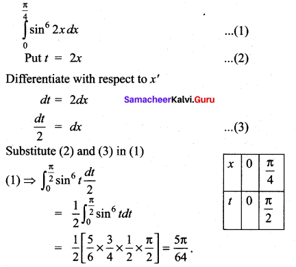 Samacheer Kalvi 12th Maths Solutions Chapter 9 Applications of Integration Ex 9.6 6
