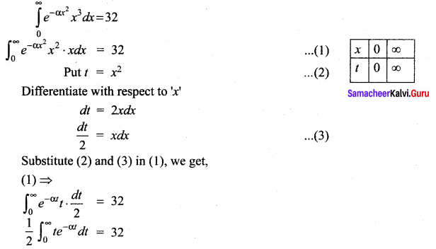 Samacheer Kalvi 12th Maths Solutions Chapter 9 Applications of Integration Ex 9.7 6
