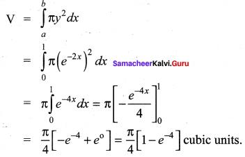 Samacheer Kalvi 12th Maths Solutions Chapter 9 Applications of Integration Ex 9.9 2