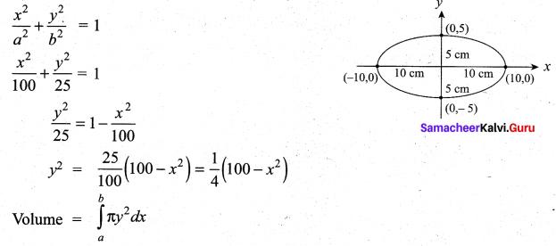 Samacheer Kalvi 12th Maths Solutions Chapter 9 Applications of Integration Ex 9.9 8