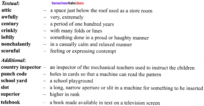 The Fun They Had Questions Answers Samacheer Kalvi