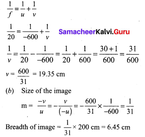 9th Class Science Chapter 11 Reflection Of Light Exercise Samacheer Kalvi Chapter 6
