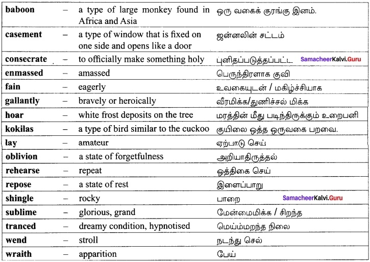 Our Casuarina Tree Questions Answers Samacheer Kalvi 12th English Solutions Poem Chapter 2