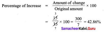 Samacheer Kalvi 7th Maths Solutions Term 3 Chapter 2 Percentage and Simple Interest Intext Questions 4