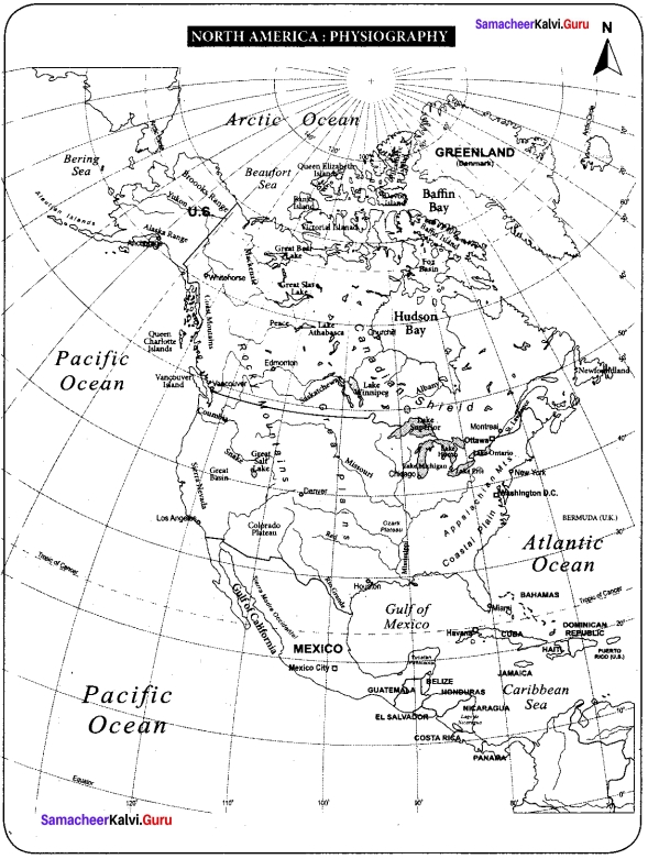 Samacheer Kalvi 7th Social Science Geography Solutions Term 3 Chapter 1 Exploring Continents - North America and South America