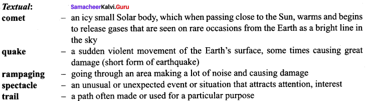 The Comet Poem 9th Standard Samacheer Kalvi