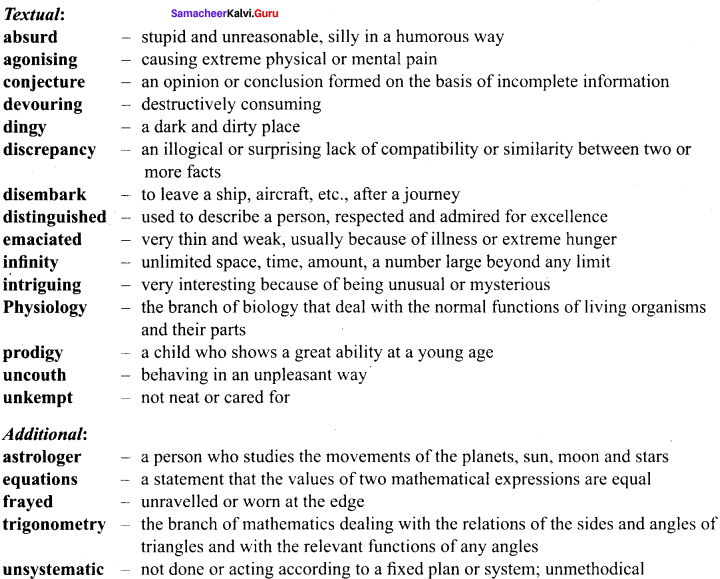 Samacheer Kalvi 9th English Solutions Prose Chapter 6 From Zero to Infinity 14