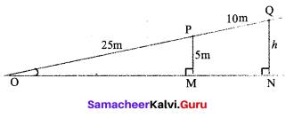 9th Standard Maths Trigonometry Exercise 6.1 Samacheer Kalvi