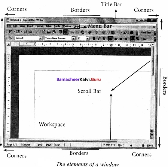 11th Computer Application Samacheer Kalvi Chapter 5 Working with Typical Operating System