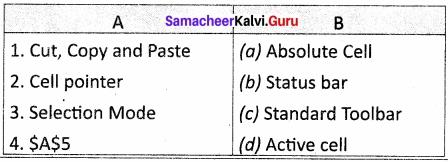 Samacheer Kalvi 11th Computer Applications Solutions Chapter 7 Spreadsheets Basics (OpenOffice Calc)