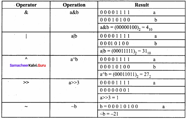Computer Science Samacheer Kalvi 11th Chapter 9