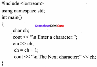 Samacheer Kalvi 11th Computer Science Book Back Answers Chapter 9
