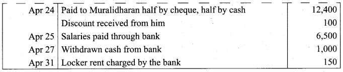 Tamil Nadu 11th Accountancy Model Question Paper 4 English Medium - 27
