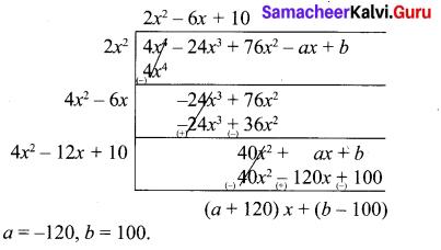 Samacheer Kalvi 10th Maths Book Graph Solution