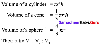 Samacheer Kalvi 10th Maths Chapter 7 Mensuration Additional Questions 3