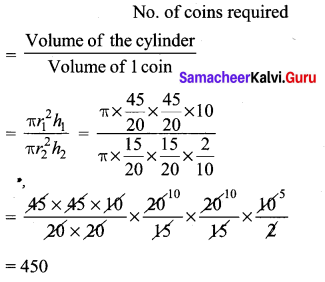 Samacheer Kalvi 10th Maths Chapter 7 Mensuration Additional Questions 5