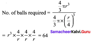 Samacheer Kalvi 10th Maths Chapter 7 Mensuration Additional Questions 6