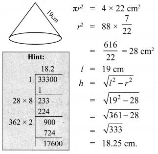 Samacheer Kalvi 10th Maths Mensuration Ex 7.1 6