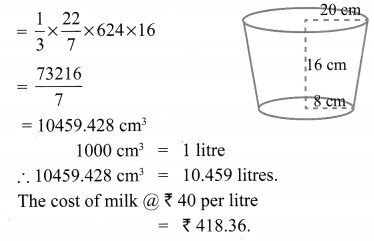 Samacheer Kalvi 10th Maths Chapter 7 Mensuration Ex 7.2 15