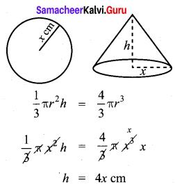Samacheer Kalvi 10th Maths Chapter 7 Mensuration Ex 7.5 8