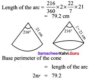 Samacheer Kalvi 10th Maths Chapter 7 Mensuration Unit Exercise 7 10