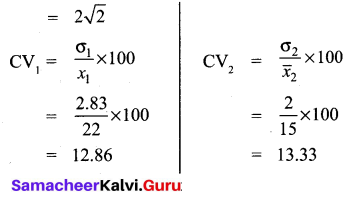 Samacheer Kalvi 10th Maths Chapter 8 Statistics and Probability Ex 8.2 16