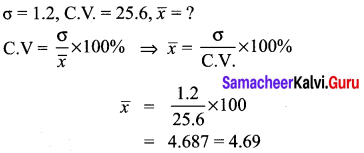 10th Maths Exercise 8.2 Samacheer Kalvi Statistics and Probability