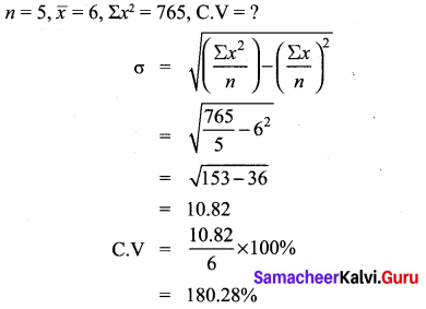Ex 8.2 Class 10 Samacheer Kalvi Statistics and Probability