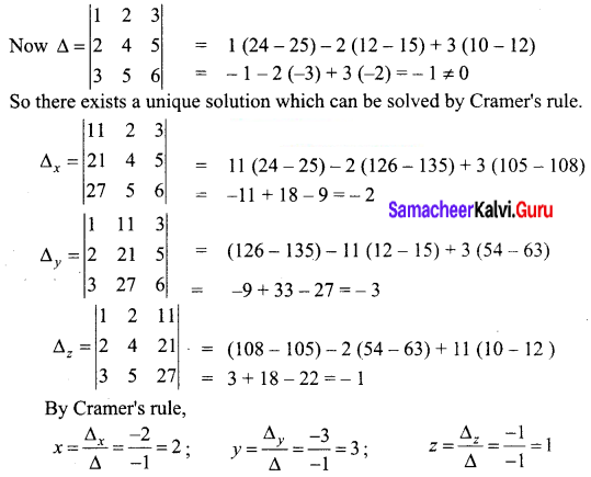Samacheer Kalvi 12th Business Maths Solutions Chapter 1 Applications of Matrices and Determinants Ex 1.2 14
