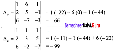 Samacheer Kalvi 12th Business Maths Solutions Chapter 1 Applications of Matrices and Determinants Ex 1.2 4