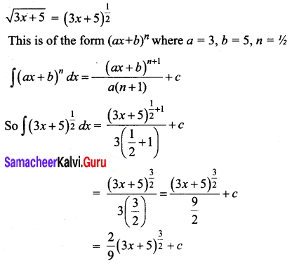 Samacheer Kalvi 12th Business Maths Solutions Chapter 2 Integral Calculus I Ex 2.1 Q1