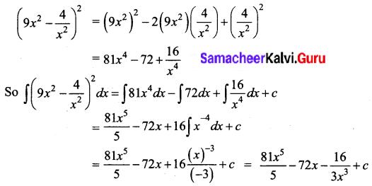 Samacheer Kalvi 12th Business Maths Solutions Chapter 2 Integral Calculus I Ex 2.1 Q2