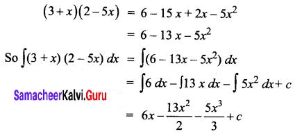Samacheer Kalvi 12th Business Maths Solutions Chapter 2 Integral Calculus I Ex 2.1 Q3