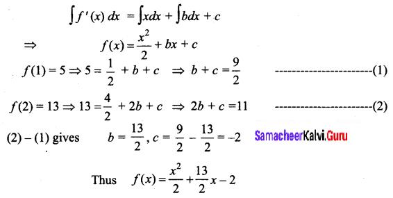 Samacheer Kalvi 12th Business Maths Solutions Chapter 2 Integral Calculus I Ex 2.1 Q7