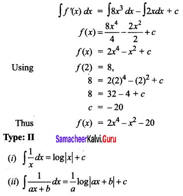 Samacheer Kalvi 12th Business Maths Solutions Chapter 2 Integral Calculus I Ex 2.1 Q8