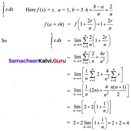 Samacheer Kalvi 12th Business Maths Solutions Chapter 2 Integral Calculus I Ex 2.11 Q2