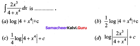 Samacheer Kalvi 12th Business Maths Solutions Chapter 2 Integral Calculus I Ex 2.12 Q11