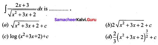 Samacheer Kalvi 12th Business Maths Solutions Chapter 2 Integral Calculus I Ex 2.12 Q13