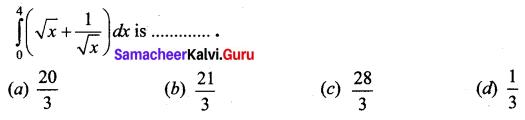 Samacheer Kalvi 12th Business Maths Solutions Chapter 2 Integral Calculus I Ex 2.12 Q23