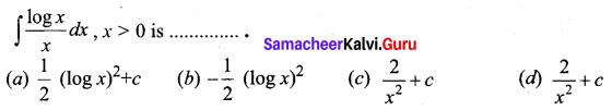 Samacheer Kalvi 12th Business Maths Solutions Chapter 2 Integral Calculus I Ex 2.12 Q5