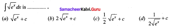 Samacheer Kalvi 12th Business Maths Solutions Chapter 2 Integral Calculus I Ex 2.12 Q7